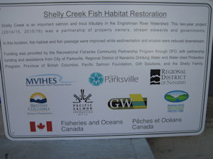Shelly Creek Information Sign